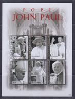 Papua New Guinea 2010 Pope John Paul Sheetlet MNH - Papua-Neuguinea