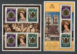 PENRHYN 1978 MI # 115 - 117 + BLOCK 11 25th Anniversary Of Queen Elizabeth II Coronation  MNH - Penrhyn