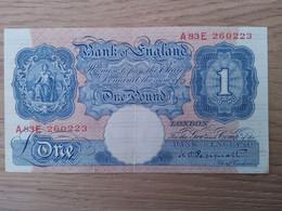 Bank Of England One Pound - Bankbiljetten
