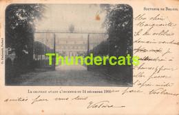CPA SOUVENIR DE BELOEIL LE CHATEAU AVANT L'INCENDIE 1900 - Beloeil