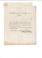 LETTRE DU RECEVEUR DE LA FABRIQUE DE DOLE  - JURA  - DE MESSIEURS LES LOCATAIRES DES BANC D '  EGLISE - JANVIER 1826 - - Colecciones