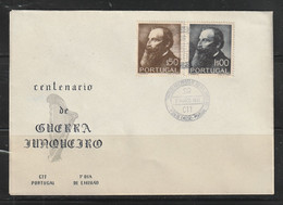 Portugal 1951 Guerra Junqueiro FDC - Lettere