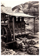 ROSIA MONTANA : MINE D'OR / GOLD MINING - CONCASSEUR À EAU / WATER MILL CRUSHER - PHOTO ~ 6 X 8 CM ~ 1930 (af559) - Romania