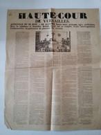 Affiche Placard 1849 Haute Cour De Versailles Attentat Du 13 Juin . 30 Accusés ( 2 è République ) - Posters