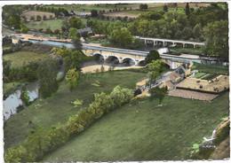 EN AVION AU DESSUS DE DOMPIERRE SUR BESBRE  LE PONT CANAL DE SEPT FONS - Andere Gemeenten