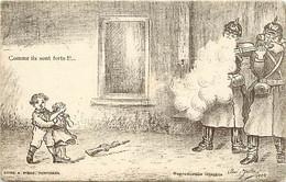 Themes Div-ref FF430- Guerre 1914-18- Illustrateur Savi Julia -les Enfants - Litho A Pique - Perpignan - - Weltkrieg 1914-18
