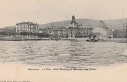 N°4951 R -cpa Neuchâtel -le Port, Hôtel Bellevue Et Bâtiment Des Postes- - NE Neuchâtel