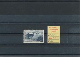 ANDORRA FRANCESE 1950  MNH CAT. UNIF. N° A1 POSTA AEREA - Andorre Français