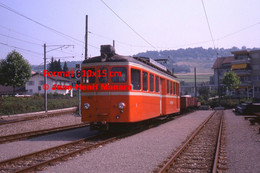 ReproductionPhotographie D'un Train BDB Bremgarten En Suisse En 1978 - Reproductions