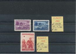 ALBANIA  1947  MNH CAT. UNIF. N° 430-432 - Albania