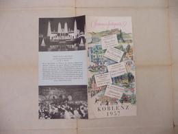 "Vieux Ancien Dépliant  -  "" KOBLENZ  ""  ALLEMAGNE .. FESTSPIELLEITUNG KOBLENZ 1957 - Tourism Brochures"