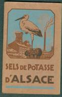 Carnet Mines Potasse D'Alsace Cigogne Hansi - Publicidad