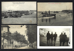 Conjunto 4 Postais Antigos: POVOA De VARZIM. Lot 4 Old Postcards (Porto) PORTUGAL - Porto