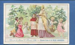 Lille BELLE JARDINIERE BERIOT CHROMO 15cmx9,3cm Saint Nicolas Enfant De Choeur Prière Enfants Angelot - Cromos