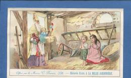 Lille BELLE JARDINIERE BERIOT CHROMO 15cmx9,3cm Saint Nicolas  étable Prière Enfants Jouets - Cromos