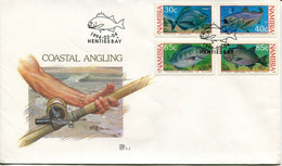 Namibia Mi# 764-7 Used On Official FDC - Fauna Fish - Namibie (1990- ...)