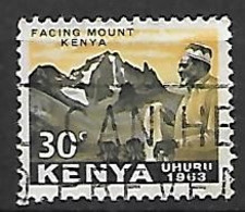 KENYA     -    1963 .  Y&T N° 5 Oblitéré.   Montagne - Kenya (1963-...)