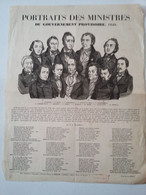 """Affiche Placard """" Portraits Des Ministres Du Gouvernement Provisoire  1848 """" - Posters"""