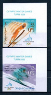 2006 Serbia And Montenegro Winter Olympic Games,  IMPERF Stamps Michel # 3313-3314 MNH - Inverno2006: Torino