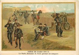 Themes Div-ref FF420-guerre 1870-71- Illustrateur Germain -siege De Paris - La Garde Nationale Gardant Les Remparts  - - Andere Kriege