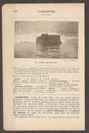 1921 CARENTEC CHEMIN DE FER RESEAU D'ETAT JUSQU'A MORLAIX PUIS LIGNE DE ROSCOFF POUR HENVIC CARENTEC - Railway
