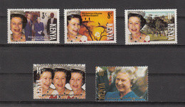 1992 Kenya QEII Accession Royalty Complete Set Of 5 MNH - Kenya (1963-...)