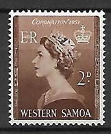 WESTERN  SAMOA   -   1953 .   Y&T N° 159  *.  Couronnement - Samoa