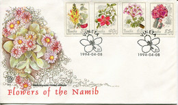 Namibia Mi# 772-5 Used On Official FDC - Flora - Namibie (1990- ...)