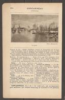 1921 CONCARNEAU CHEMIN DE FER RESEAU D'ORLEANS STATION ROSPORDEN LIGNE NANTES QUIMPER - LE PORT - Railway