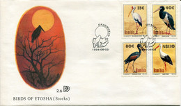 Namibia Mi# 776-9 Used On Official FDC - Fauna Birds - Namibie (1990- ...)