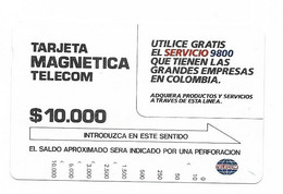 Colombia Tamura Used Phone Card, No Value, Collectors Item, # Colombia-8 - Kolumbien