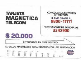 Colombia Tamura Used Phone Card, No Value, Collectors Item, # Colombia-9 - Kolumbien