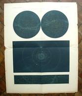 Affiche Constellation Célestes Des Deux Hémisphères - 1876 - Atlas Universel Vivien De Saint Martin - Hachette - Posters