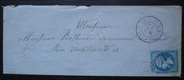 Eygurande-d'Ussel 1865 (Corrèze) Gc 1460 Lettre Pour Clermont - 1849-1876: Periodo Clásico
