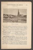 1921 SAINT MICHEL EN GREVE CHEMIN DE FER RESEAU DE L'ETAT JUSQU'A LANNION - CHEMIN DE FER ARMORICAIN DE LANNION MORLAIX - Railway