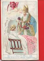 Lille BELLE JARDINIERE BERIOT CHROMO 15cmx9,3cm Saint Nicolas Bébé Berceau Pantin Angelot - Cromos