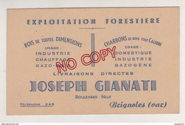 Au Plus Rapide Carte Visite J Gianati Brignoles Exploitation Forestière Bois Gazogène ... - Visiting Cards