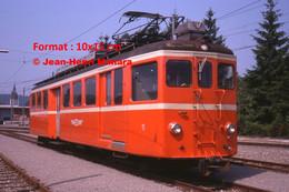 ReproductionPhotographie D'une Vue De Face D'un Train BDB Bremgarten En Suisse En 1978 - Reproductions
