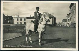 1930 Iceland Pony Race Postcard, Reykjavik Paquebot Bergen Norway - London England. - Brieven En Documenten