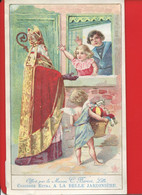 Lille BELLE JARDINIERE BERIOT CHROMO 15cmx9,3cm Saint Nicolas Enfants Fenetre Angelot Jouets - Cromos