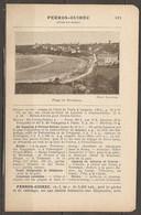 1921 PERROS GUIREC CHEMIN DE FER RESEAU DE L'ETAT JUSQU'A LANNION CHEMIN DE FER DES COTES DU NORD DE LANNION - Railway
