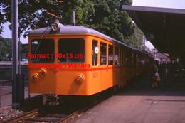 ReproductionPhotographie D'un Train SZU à Un Arrêt à Zurich En Suisse En 1978 - Reproductions