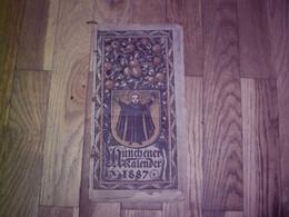 1887 HUNCHENER KALENDER - Details Siehe Beschreibung - 3 Fotos - Calendars