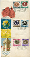 POLAND 1956 Olympic Games FDC (3).  Michel 984-99 - FDC
