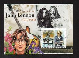 70th Anniversary Of John Lennon (1940-1890) - Music Stamp - MNH (Guinea Bissau 2010) (1W1207) - Music