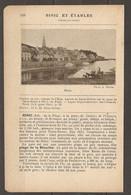 1921 BINIC ET ETABLES CHEMIN DE FER RESEAU DE L'ETAT STATION St BRIEUC SUR LA LIGNE DE PARIS BREST A 475 KM DE PARIS - Railway