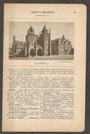1921 SAINT BRIEUC CHEMIN DE FER RESEAU DE L'ETAT STATION DE LA LIGNE PARIS BREST A 475 KM DE PARIS ET 148 KM DE BREST - Railway