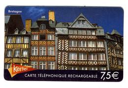 Rennes Maisons Médiévales Carte Téléphonique Kertel Pans Bois - Phonecards
