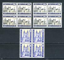 BE   1614 - 1615   XX   ---  Mechelen / St Hubert  --   Blocs De 4  -- Avec G3 Gomme Blanche - Bélgica