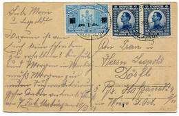 YUGOSLAVIA 1924 Postcard From Maribor With War Invalids Surcharge And 25 Para Alexander X 2 - Briefe U. Dokumente